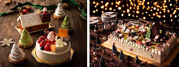 クリスマスを彩る様々なデザインのケーキ クリスマスケーキ2019 千里阪急ホテル・ホテル阪急エキスポパークにて 2019年12月1日(日)より順次販売開始