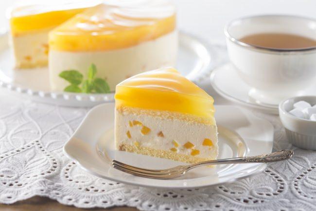 「ピーチチーズケーキ」
