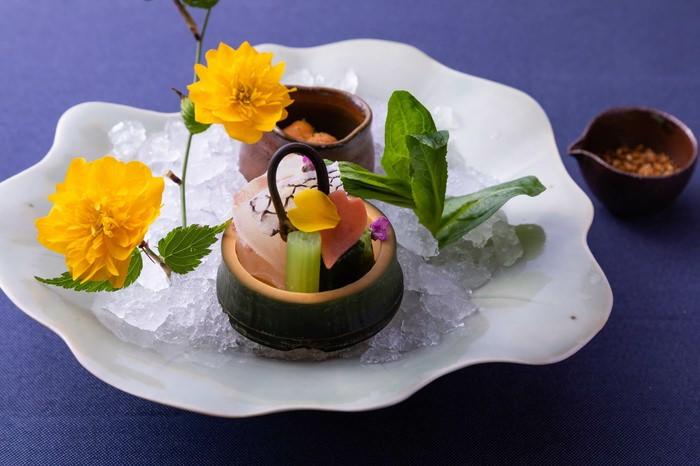 星のや京都 旬の食材を使い、芽吹きや色とりどりの花を表現した京会席を提供 期間:2020年3月1日~4月30日