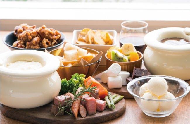 寒い季節に食べたくなる★トロっトロの「チーズ&チョコフォンデュ 17品目 120分食べ放題」が登場