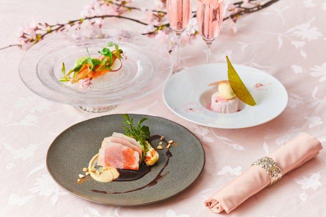 """春の食材をふんだんに使用した""""桜""""がテーマのランチを期間限定で販売!乾杯ロゼスパークリング付「桜ランチ」"""