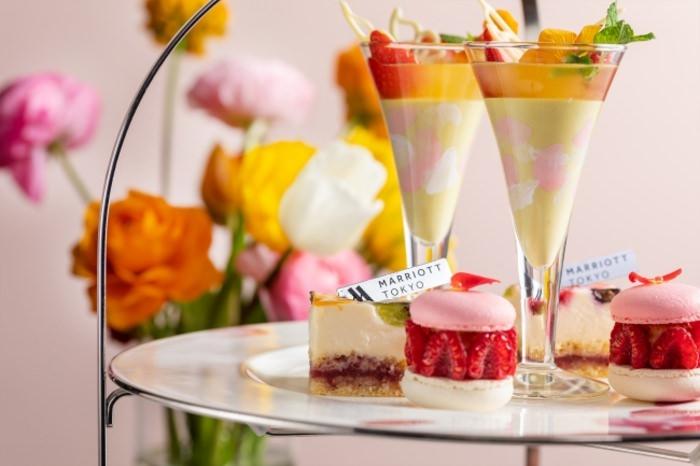 """【東京マリオットホテル】 きらめく春を可憐に表現 """"BLOOM""""をテーマにした華やかなアフタヌーンティーを提供"""