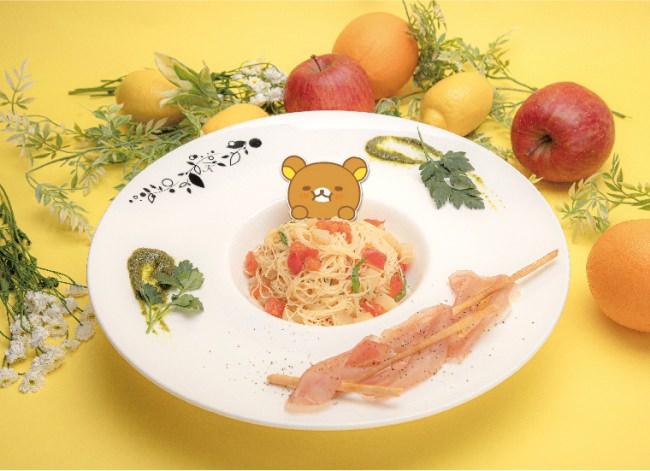 ひんやり!ももとトマトの冷製パスタ