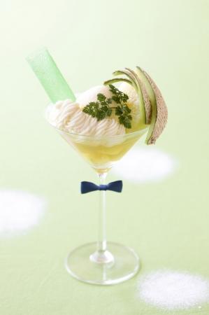 メロン好きのジェントルマン!?メロンのパフェ「Mr. Sweet Melon」