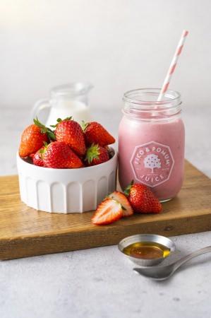 【フィコ&ポムム】東京産イチゴを贅沢に使ったイチゴミルク 1日5食限定の『東京イチゴミルクプレミアム』が登場!