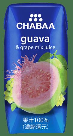 これを待っていた!CHABAAの人気ジュースが飲み切りサイズで登場! CHABAA 果汁100% グァバ&グレープミックス ・ブラッドオレンジ 180ml新発売