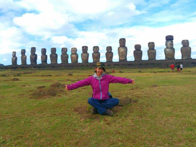 世界一周の一人旅で訪れたイースター島