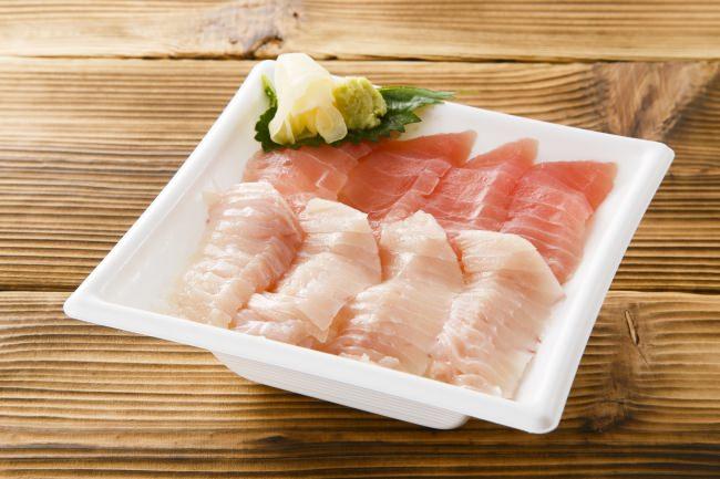 鮪赤身とびんちょう鮪が一度に味わえる磯丸水産一番人気の 「まぐろ2色丼」