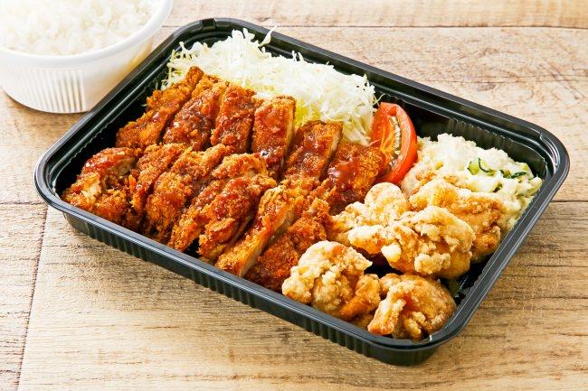 唐揚げとカツがコラボ 一番人気の 「チキン・チキン弁当」