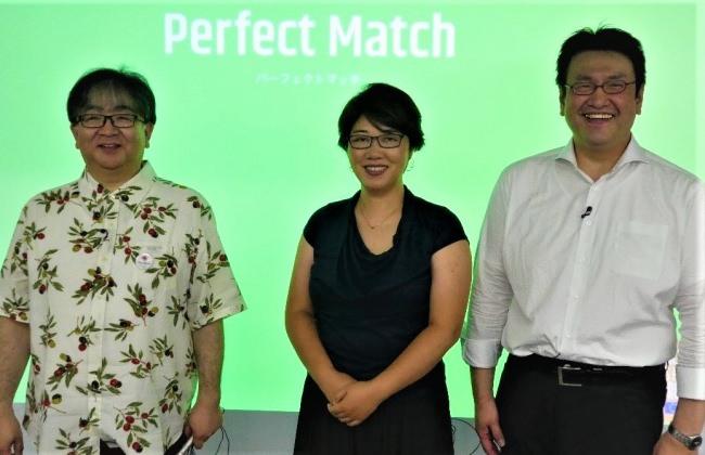 左から)日本オリーブオイルソムリエ協会 多田氏、駐日欧州連合代表部 小林氏、メルシャン株式会社 前田氏