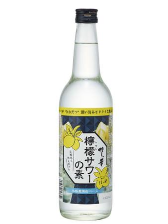 """本格麦焼酎ベースで香ばしく、飲み応えのある強烈な個性の""""レモンサワーの素""""「博多の華 檸檬(れもん)サワーの素」を新発売!"""