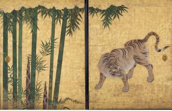 竹林豹虎図 ©名古屋城総合事務所提供