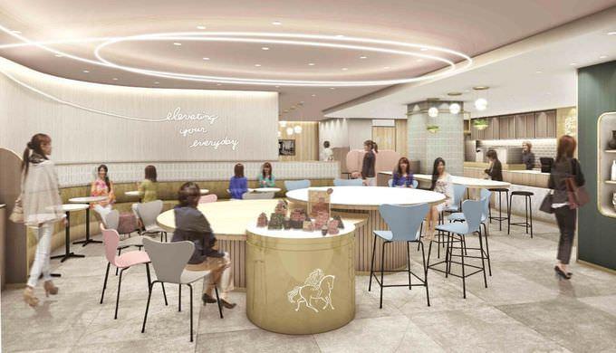 国内初!『GODIVA café』が東京駅グランルーフ フロント内にオープン