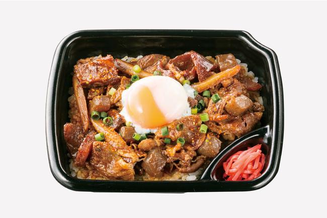 牛すじ味噌煮込み重(半熟たまご付き) 630円(税込)