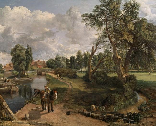 ジョン・コンスタブル《フラットフォードの製粉所(航行可能な川の情景)》1816 -17 年、油彩/カンヴァス、テート美術館蔵 ©Tate