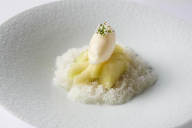メロンレモンマシュマロジェラート キアッケレとリコッタクリーム