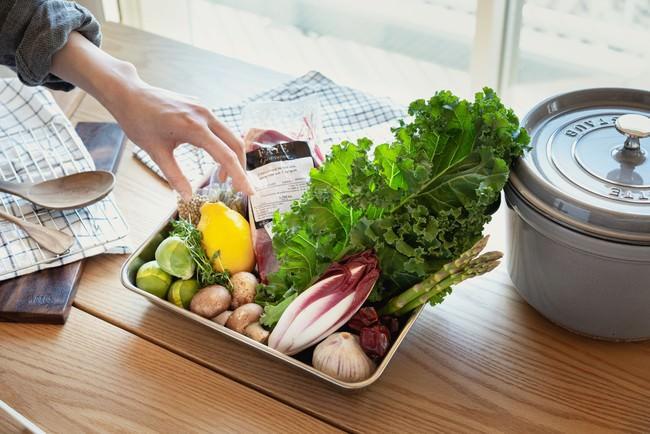野菜から調味料まで、ほぼすべての食材がまとめて届く。