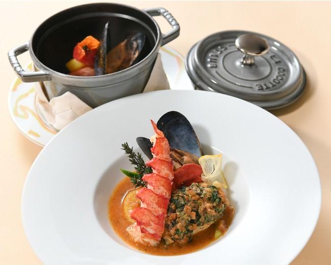 """鮮魚、オマール海老、ムール貝 海の幸の味わい""""ブイヤベースソース"""""""