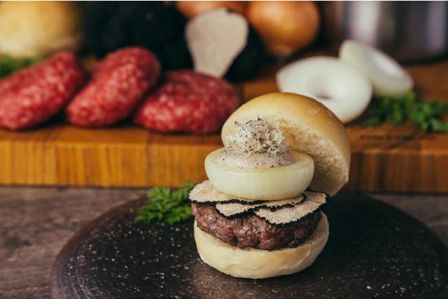 厳選和牛のスライダーバーガー トリュフチーズソース