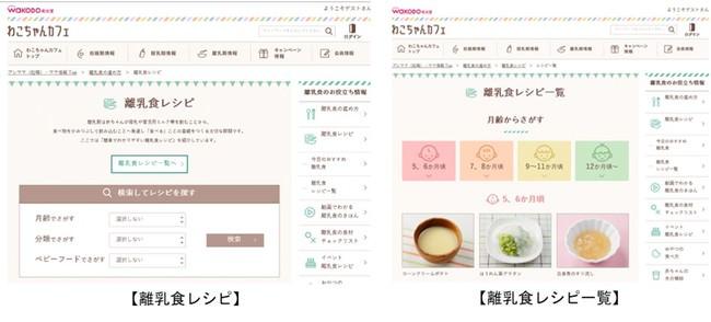 """育児情報サイト「和光堂」"""" わこちゃんカフェ""""おうち時間の増加に伴い、離乳食レシピのアクセス数が2021年1‐5月累計は2019年同期比1割増"""