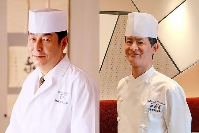 左:和食レストラン 羽衣 料理長 山本 昇 右:中国レストラン 桃花林 料理長 飯島 孝文