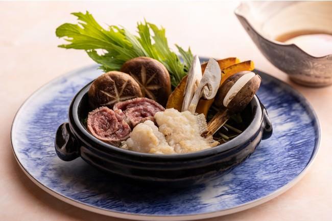 【鉄板 水暉】鱧と松茸のすき焼き