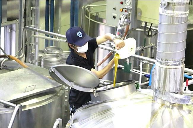 インコグニート投入。インコグニートを使ったビールはまだ日本に数個しかありません。