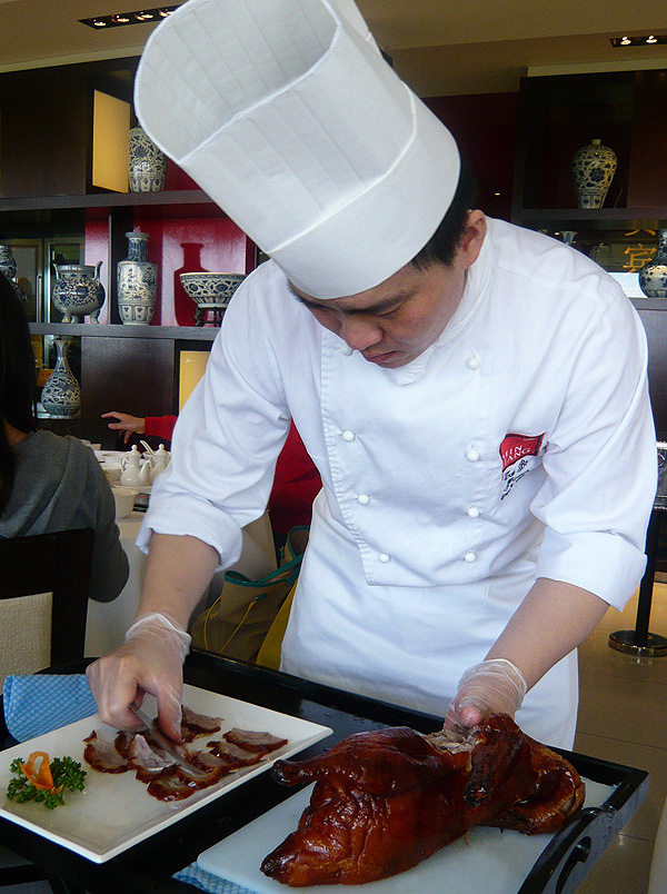 chef with beijing duck