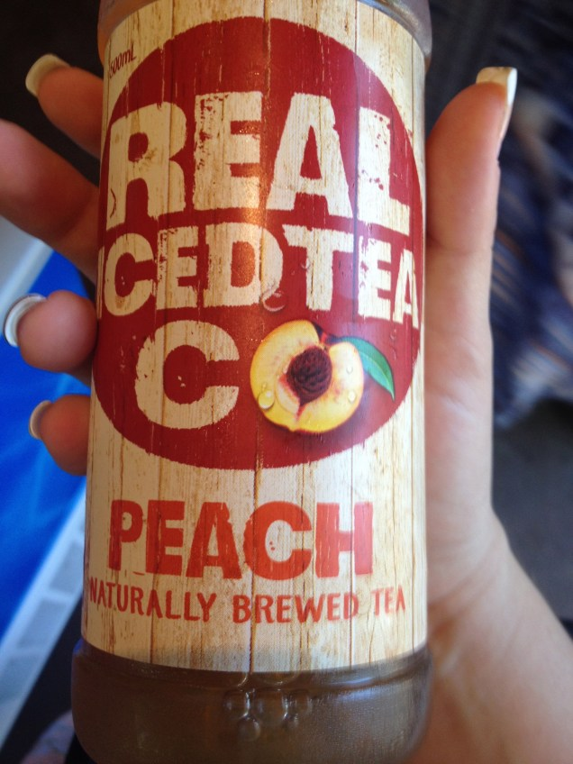 Peach flavoured Real Co Iced Tea