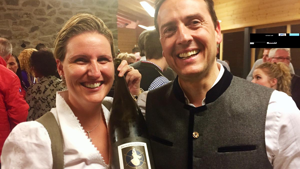 Carolin und Oliver Battenfeld-Spanier: Servierten exzellenten 2013 Riesling