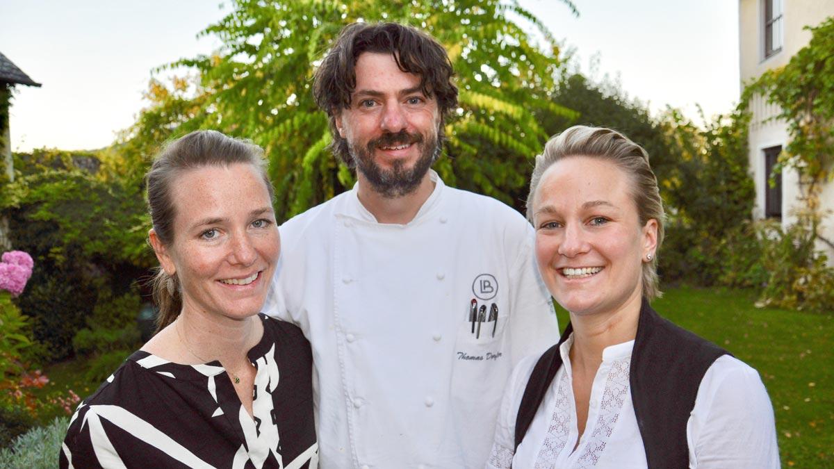 Thomas Dorfer mit seiner Frau Susanne und Schwester Christina Wagner-Bacher
