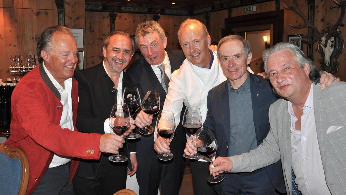 Südtirol meets Österreich: Martin Dalsas, Karl Baumgartner, Hans Haas, Martin Sieberer, Karl Obauer, Burkhard Bacher (v.li.)