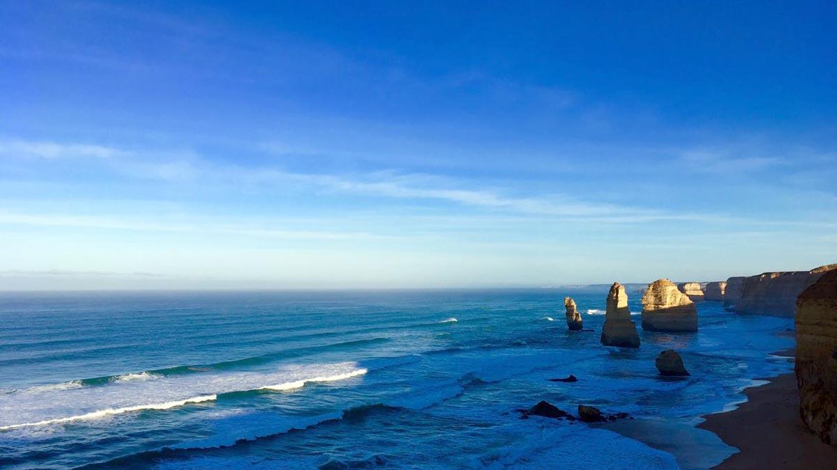 Die zwölf Apostel bei Sonnenaufgang. Foto JW