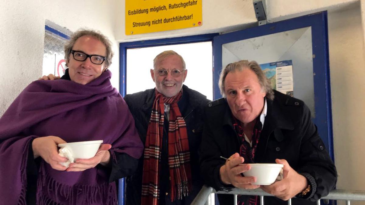 Mit Gerard Depardieu auf der höchsten Station und beim letzten Gang des kulinarischen Gipfelsturms