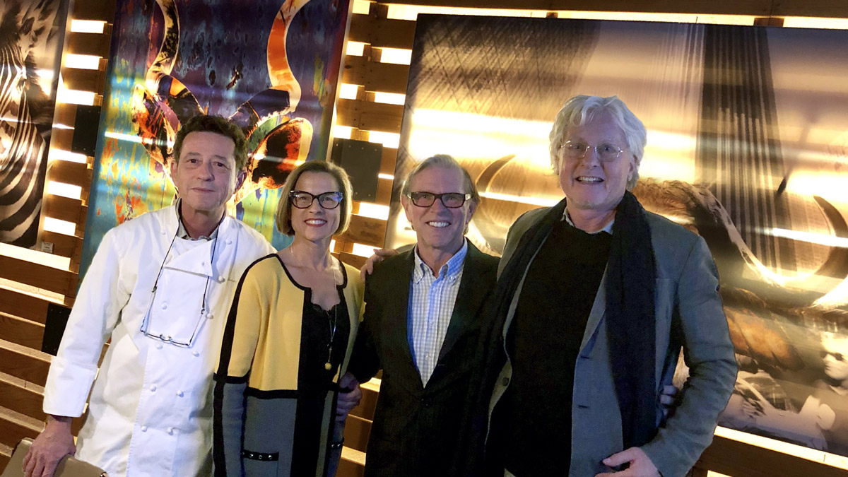 Gerhard Schwaiger, Christina, Norbert Schäfer und Gourmino Express Chefredakteur Helmut von Finck (v.l.). Foto HvF