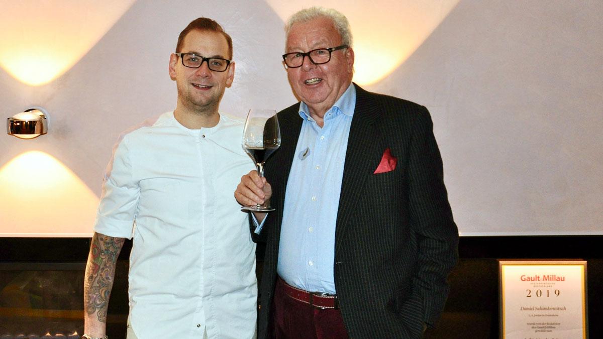 Daniel Schimkowitsch und Gourmino Express Autor Wolfgang Ritter. Foto WR