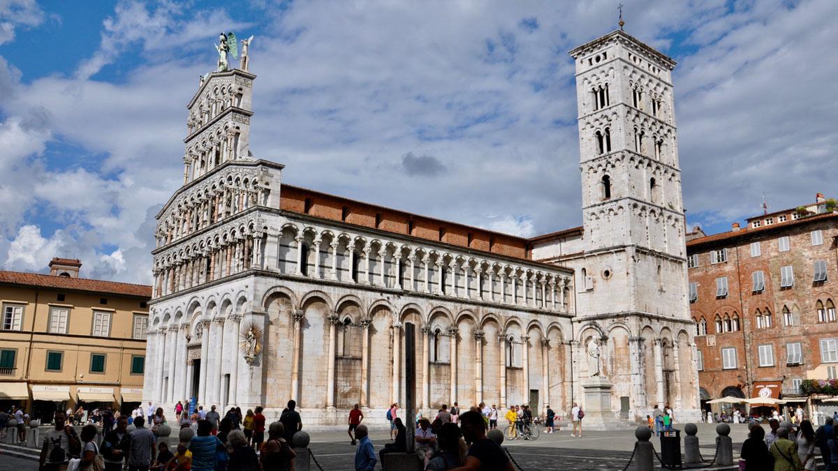 Chiesa di San Michele an der gleichnamigen Piazza im historischen Zentrum von Lucca. Foto WR