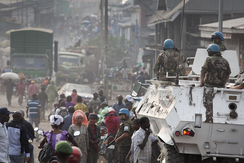 La Monusco à Goma en 2012