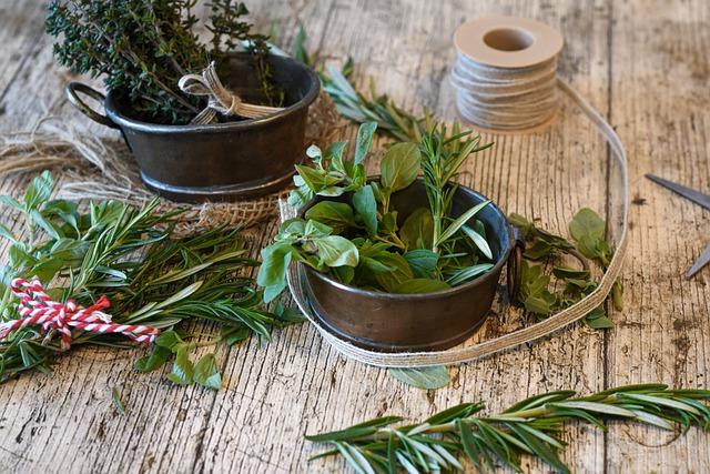 Herbes fraiches ou séchées alimentation vivante