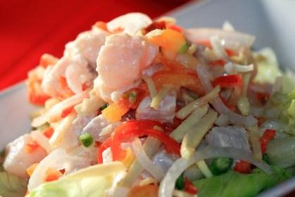 Poisson cuit par l'acide ou coction poisson cru à la tahitienne ou ceviche