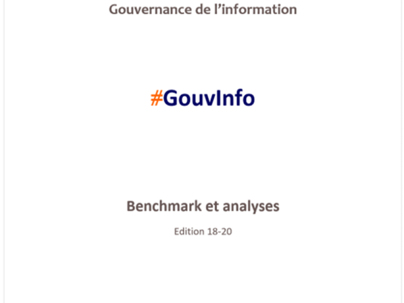 Benchmark observatoire #GouvInfo (édition 18/20 - 2020)