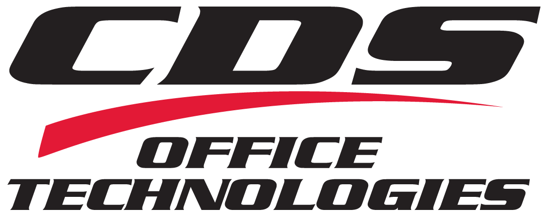CDS Office Technologies logo in black and red