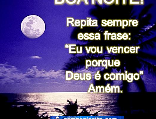 Mensagens de boa noite abençoado por Deus