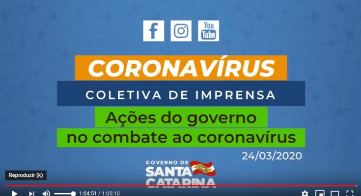 24/ 03 - Coletiva de Imprensa: Ações do Governo de Santa Catarina no combate ao #Coronavirus