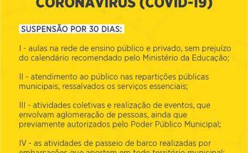 NOTA OFICIAL Prefeitura de Governador Celso Ramos sobre o Coronavírus (COVID-19)