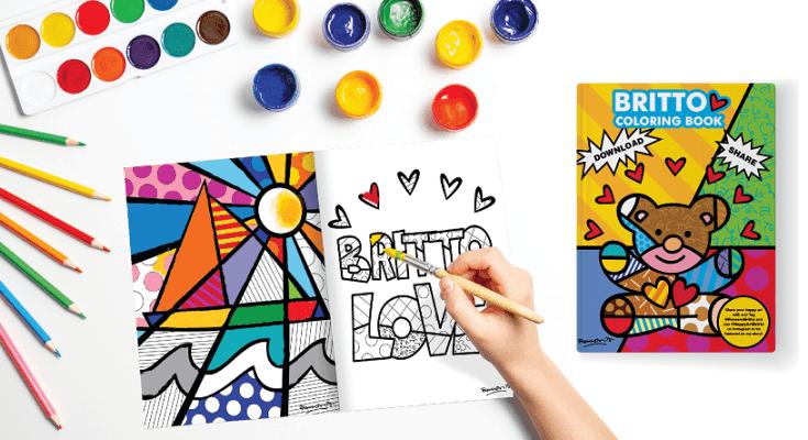 Artista plástico produz livro de colorir para crianças