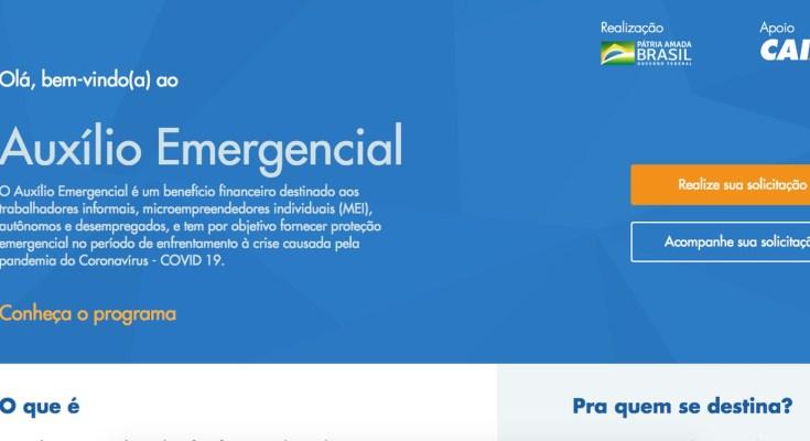 Auxílio emergencial Coronavírus Site Oficial