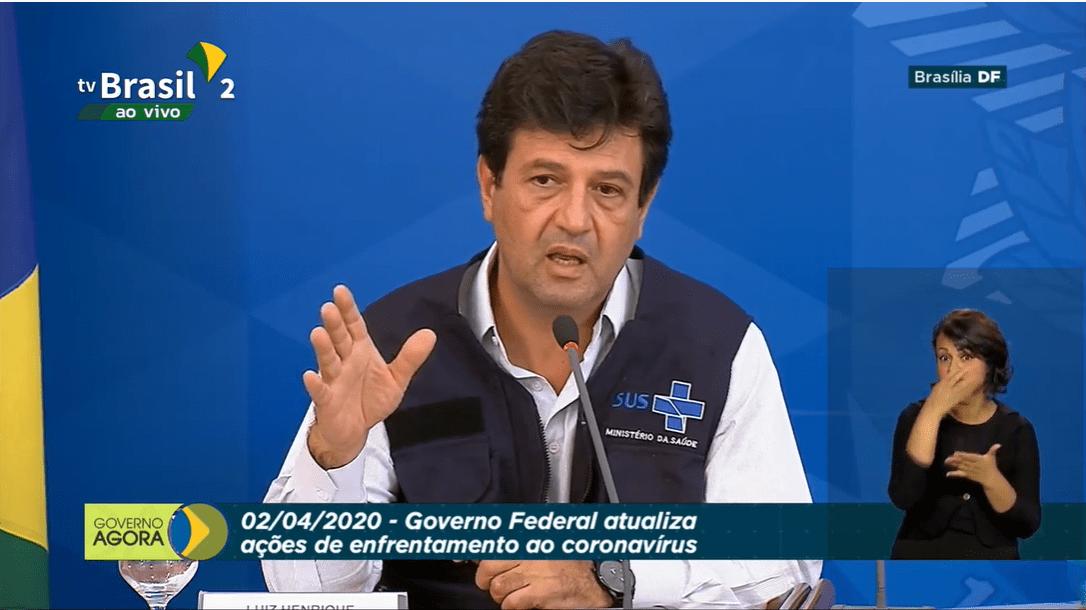 02/04 – Coletiva de Imprensa: Governo Federal atualiza ações de enfretamento ao coronavírus