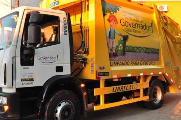 Comunicado Prefeitura Municipal de Governador Celso Ramos de interrupção parcial da coleta de lixo nesta quarta-feira, 10 de junho.