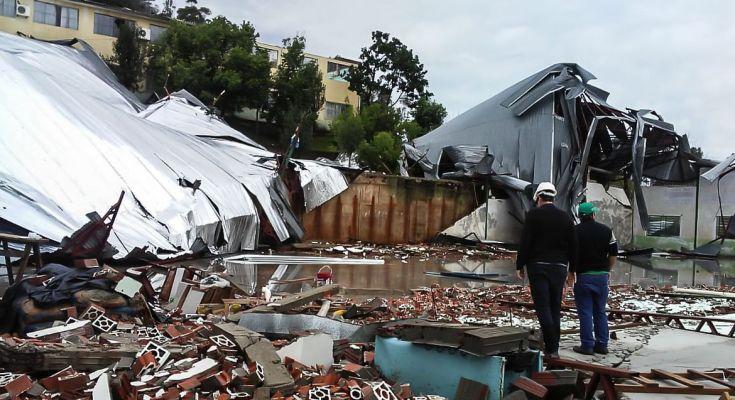Defesa Civil levanta danos causados pela passagem de ciclone em Santa Catarina